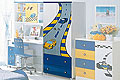 детские шкафы шкаф дляодежды F1 blue