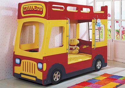 Кровать двухярусная Bartek автобус...